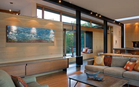 salon - Piedmont Residence par Carlton Architecture - Asheville, Usa