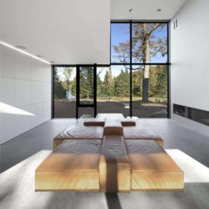 salon - Private Residence St-Sauveur par  Saucier + Perrotte architectes -  Saint-Sauveur, Canada
