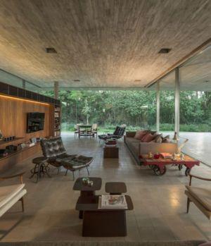 salon - Redux House par Studio mk27 - Brésil