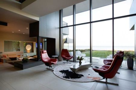 salon - Sands Point Residence par Narofsky Architecture - Long Island, Usa