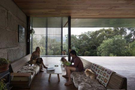 salon - Sawmill-House par Archier - Yackandandah, Australie
