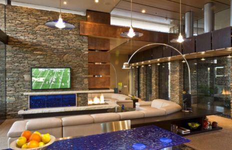 salon - Sefcovic Residence par Tate Studio Architects - Usa