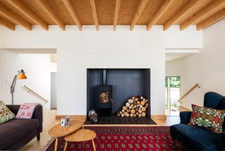 salon - Stackyard House par Mole Architects - Palgrave, Royaume-Uni