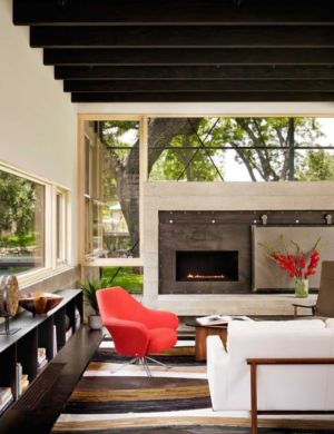 salon - The Hog Pen Creek Residence par LakeFlato - Austin, Usa