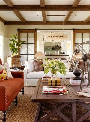 salon - Transitional Farmhouse Design par Total Design - Calistoga, Californie, Usa