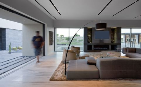 salon - Tresarca House par assemblageSTUDIO - Las Vegas, Nevada, Usa