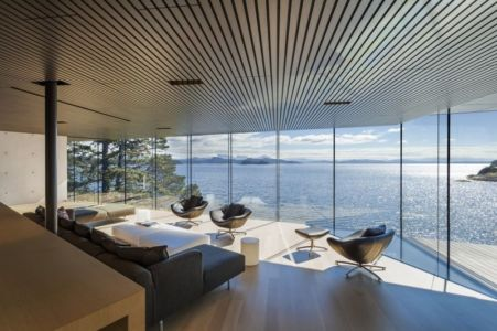 salon - Tula House par Patkau Architects - Quadra Island, Canada