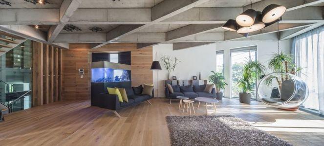 salon - Urban-Eco-House par Tecon Architects - Bucuresti Roumanie