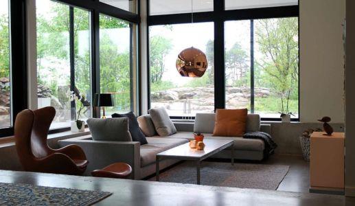 salon - Villa E par Stringdahl Design - Suède