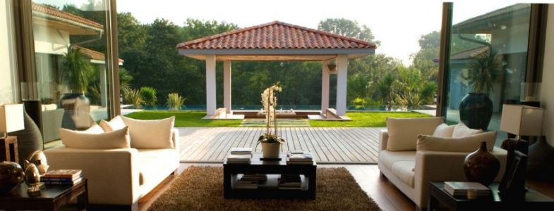 salon - Villa Hermitage - Arbonne, France