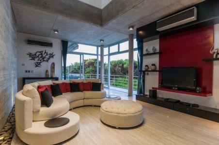 salon - Wanka House par Estudio Arquitectura Galera - Cariló, Argentine