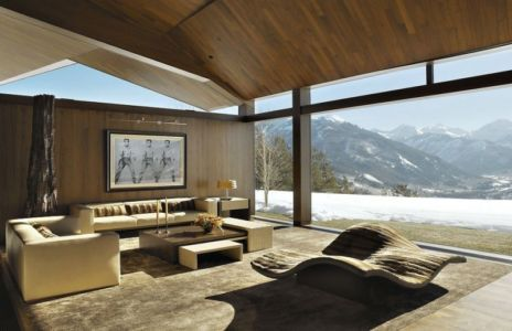 salon - Wildcat Ridge residence par Voorsanger Architects - Aspen, Usa