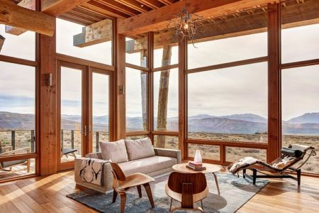 salon - Wolf Creek Ranch par S+D Architects - Utah, Usa