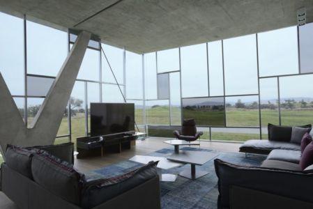 salon & écran TV - Campanario-2 par Axel Duhart Arquitectos - Santiago-Querétaro, Mexique