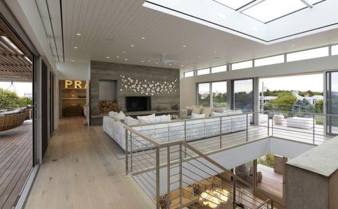 salon étage - Ocean Deck House par Stelle Lomont Rouhani Architects - Bridgehampton, USA