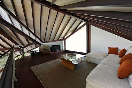 salon étage - Villas-Spa par Layar Designer - Bali, Indonesie