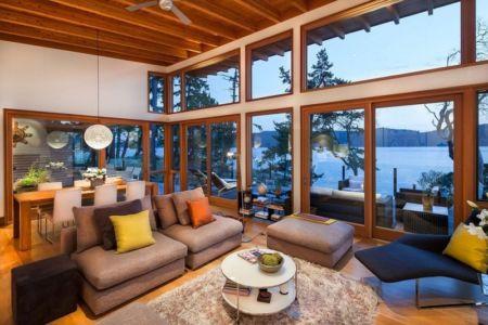 salon baie vitrée - saturna-island - Colombie Britannique, Canada
