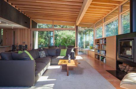 salon & bibliothèque - bunny-lane par Heliotrope-Architects - Washington, USA