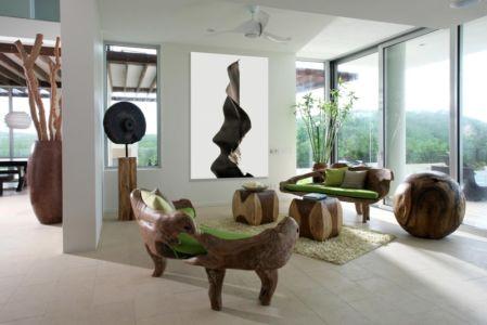 salon bois - Ani Villas par Lee H. Skolnick Architecture - Anguilla