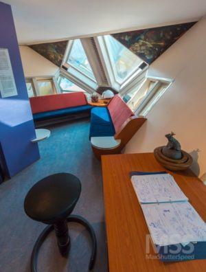 salon & bureau - Cube-houses par Piet Blom - Rotterdam, Pays-Bas