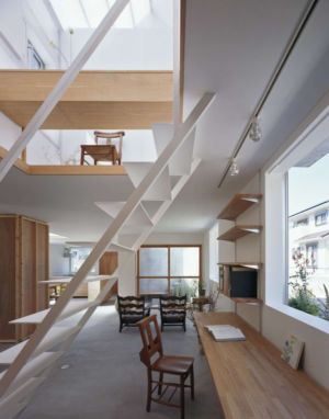 salon & bureau - House-Yamasaki par Tato Architects-You Shimada - Hyogo,Japon