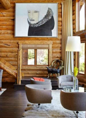 salon - chalet contemporain Thunderhead, Colorado, Usa