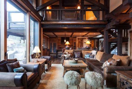 salon - chalet de luxe par Walton Architecture - Martis Camp, Usa