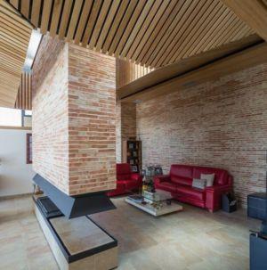 salon & cheminée design House-Molino par Mariano Molina Iniesta, Espagne