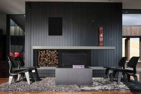 salon & cheminée design - Modern farmhouse par Pattersons - Muriwai, Nouvelle-Zélande