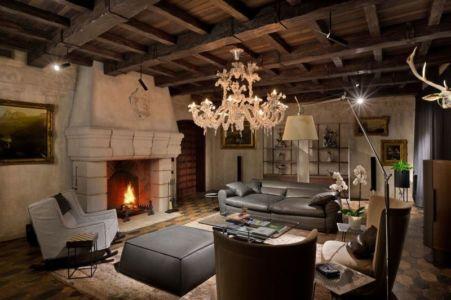 salon & cheminée - Residence-BO par Baraban+design studio - Kiev, Ukraine