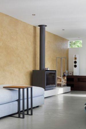 salon & cheminée design - Watervilla par +31ARCHITECTS - Amsterdam, Pays-Bas