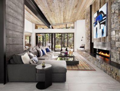 salon & cheminée design - butterfly-house par Sagemodern - Californie, USA