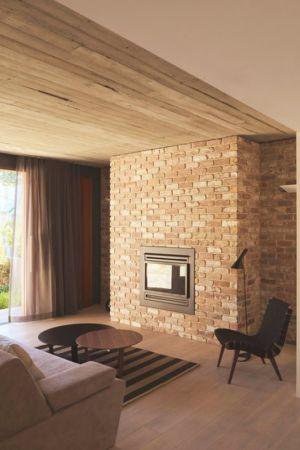 salon & cheminée design - maison exclusive par CplusC - Waverley, Australie