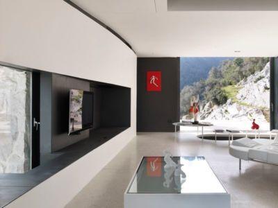 salon & coin TV - Casa Farfalla par Michel Boucquillon - Toscane, Italie