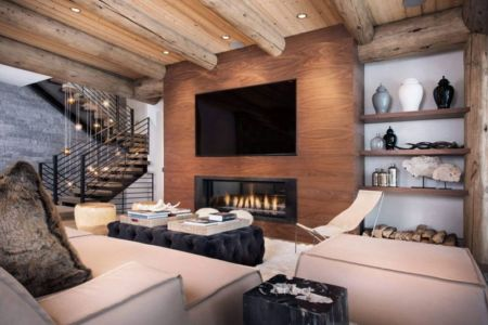 salon & coin TV - Vail-Ski-Haus par Read Design Group - Vail, USA