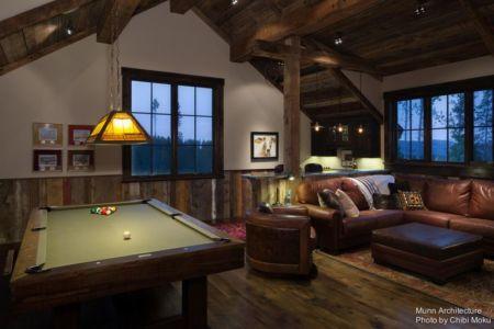 salon & coin billard - Camp 88 par Munn Architecture - Colorado, USA