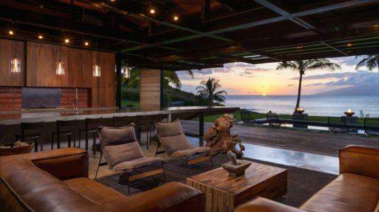 salon & cuisine - Kapalua-Home par Olson Kundig Kaprzycki Designs - Hawaï, USA