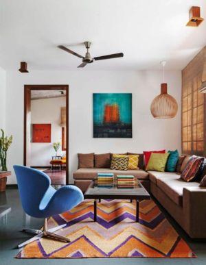 salon & déco murale - L-Plan-House Klosla Associates - Bangalore, Inde