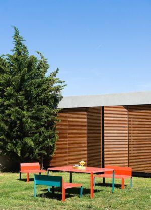 salon de jardin et brise soleil - Villa Nalu par Pascal Goujon - Alpes-Maritimes, France