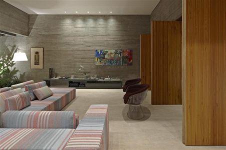 salon de nuit - Modern Residence par Anastasia Architects- Belo Horizonte, Brésil -Photo Jomar Bragança