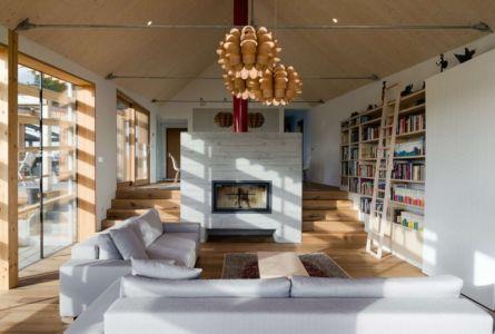 salon et cheminée - Maison bois par BIRO GASPERIC - Velesovo, Slovenia