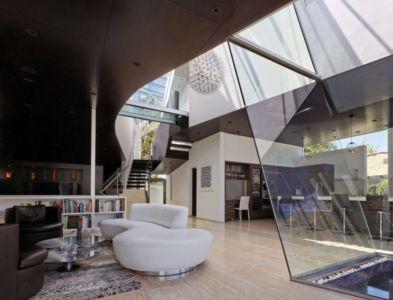 salon et cuisine - Birch Residence par Griffin Enright Architects - Los Angeles, Usa