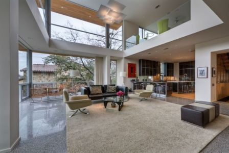 salon et cuisine - City View Residence par Dick Clark Architecture - Austin, Usa