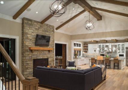 salon et cuisine - Maison typique par TTM Development company - Portland, Usa