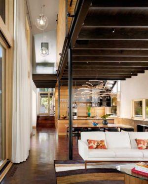 salon et cuisine - The Hog Pen Creek Residence par LakeFlato - Austin, Usa