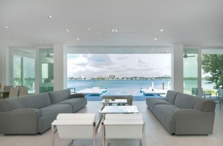 salon et panorama - Gross-Flasz Residence par One d+b Miami - Harbor Island, Usa
