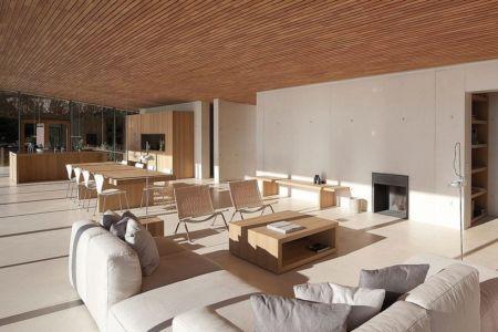 salon et séjour - Alon House par AABE et Partners -France