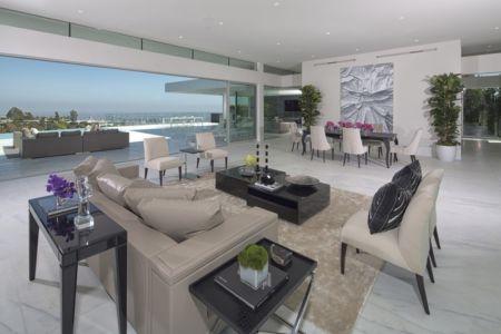 salon et séjour - Carla Ridge par McClean Design - Beverly Hills, Usa