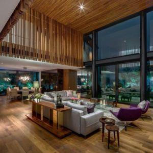 salon et séjour - Garden house par VGZ Architecture - Mexico, Mexique