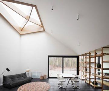 salon et séjour - Huis voor Patrick par LOW Architecten - Belgique